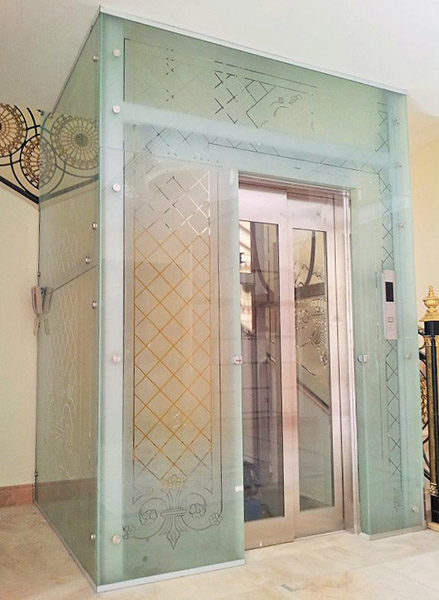 Sand Blasting Glass Shower Partitions and Cubicles Mirror